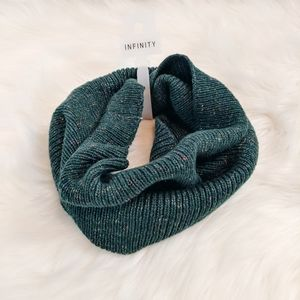 Universal Thread Green Infinity Knit Scarf